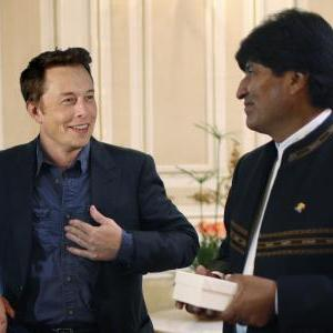 Elon Musk and Evo Morales