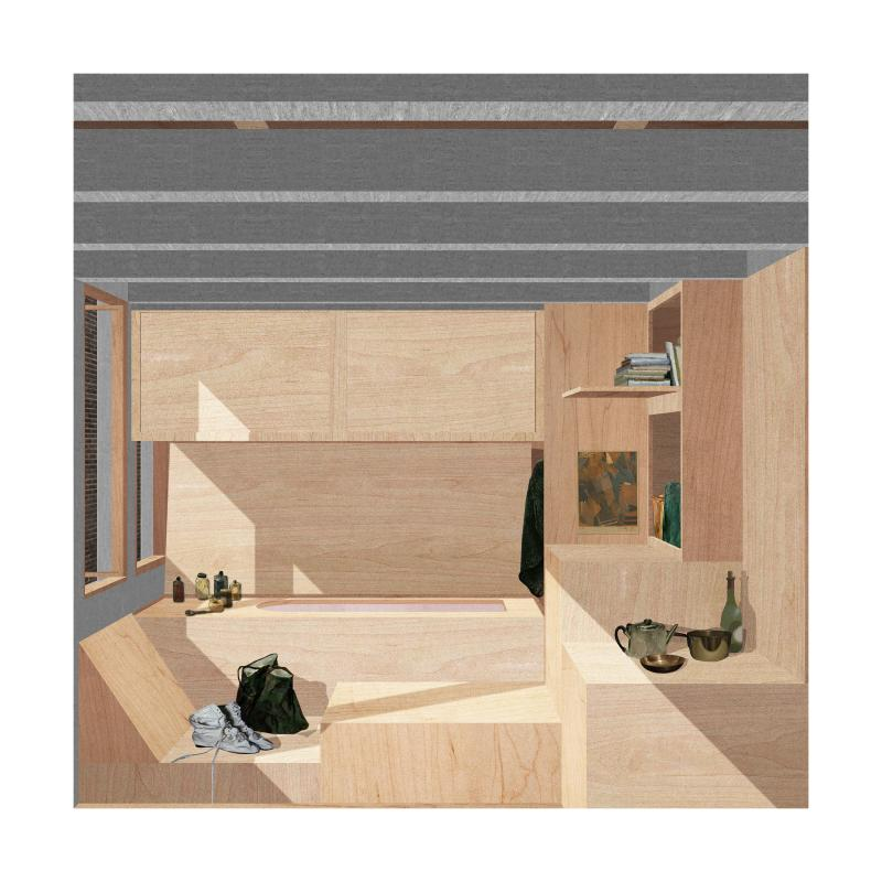 The Walls Are Made By The Arrangement Of Furniture Pieces And The Room Is  Inhabited As A Volume.