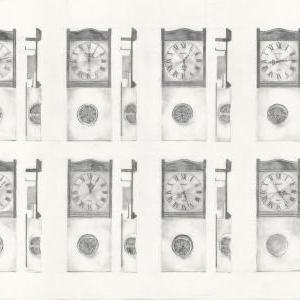 Biological clock pencil drawing